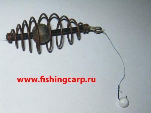 рыбалка на пружину и пенопласт видео